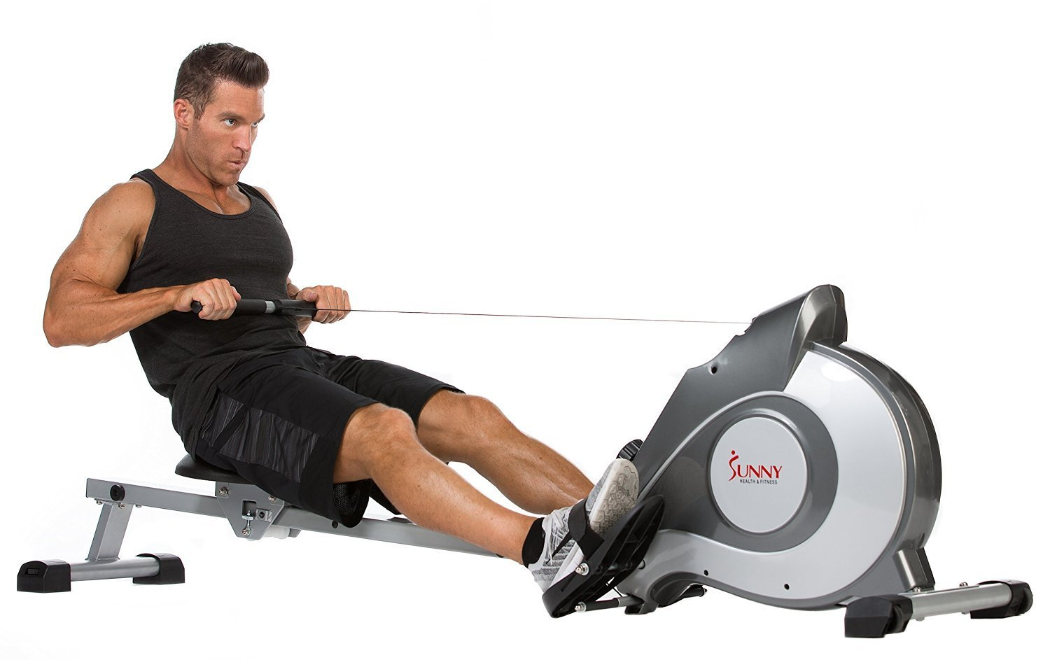 Deluxe Magnetic Rowing Machine Body Tonner Fitness Cardio Gym Training Workout
