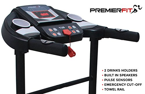 PremierFit T100 Electric Motorised Folding Treadmill Console